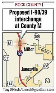 Proposed I-90/39 interchange at County M